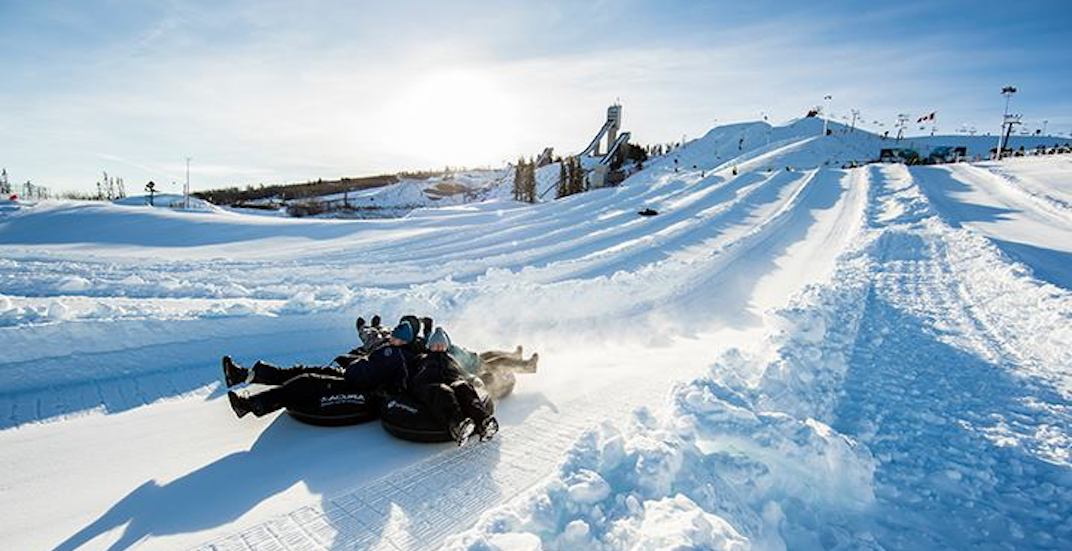 winter activity calgary winter tube acura